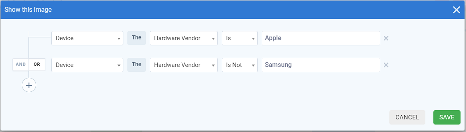 Hardware Vendor Screenshot