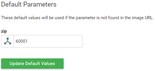 Default Parameter Screenshot