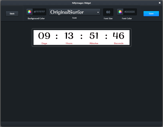 Example of Countdown Timers widget.